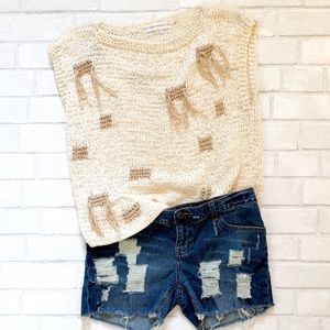 Sweaters - Vintage Hand Knitted sleeveless sweater
